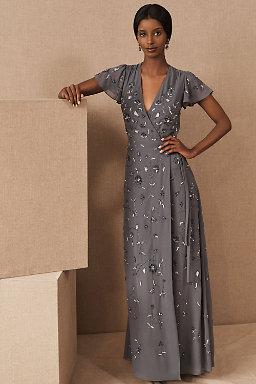 Dark Gray Long Dresses