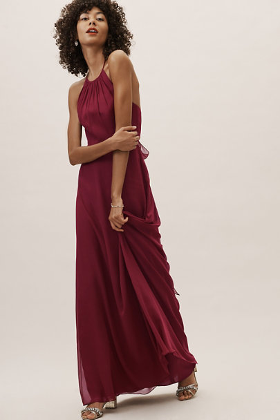 BHLDN Burgundy Gannon Dress | BHLDN
