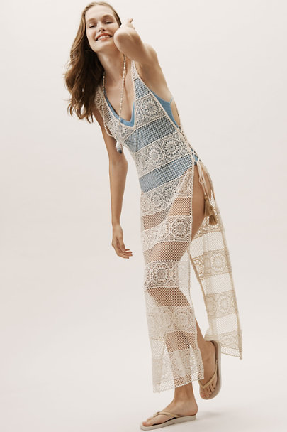 PilyQ Neutral Joy Lace Cover-Up | BHLDN