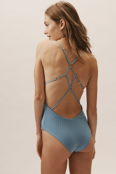 L Space Blue Blaire One-Piece Swimsuit | BHLDN
