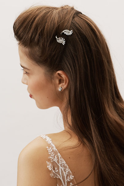 Ben-Amun Silver Vedette Hair Pins | BHLDN