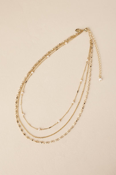 Sorrelli Gold Waller Layered Chain Necklace | BHLDN