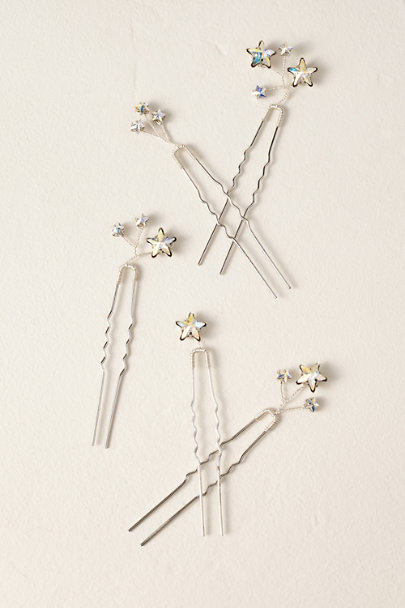 Melinda Rose Silver Columba Star Pins | BHLDN