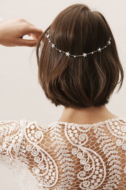 Melinda Rose Silver Atlas Wrap Tiara | BHLDN