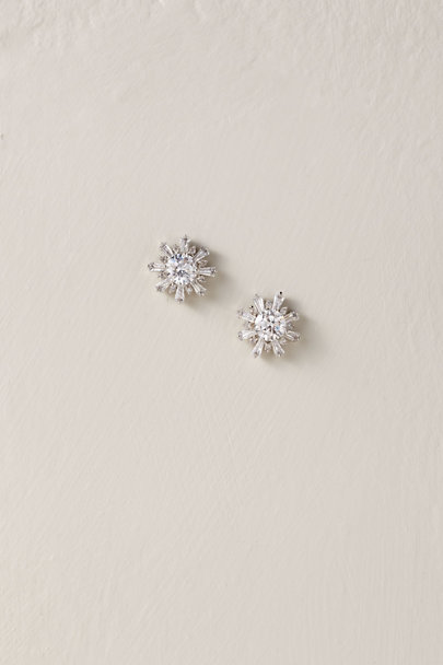 Amy O. Silver Snow Crystal Earrings | BHLDN