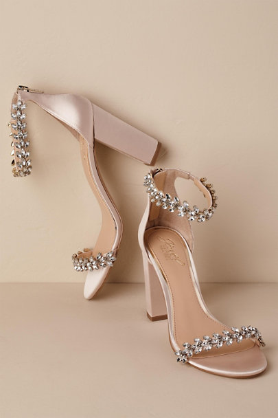 Badgley Mischka Neutral Jewel by Badgley Mischka Mayra Block Heels | BHLDN
