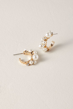 Wedding jewelry for brides bhldn valery hoop earrings junglespirit Image collections
