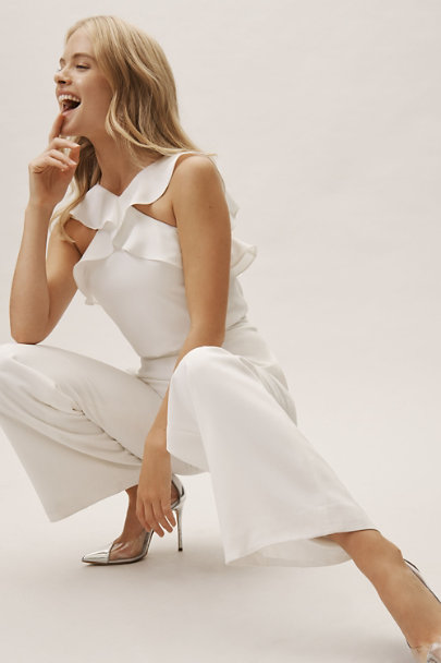 ML Monique Lhuillier Ivory Bissell Jumpsuit | BHLDN