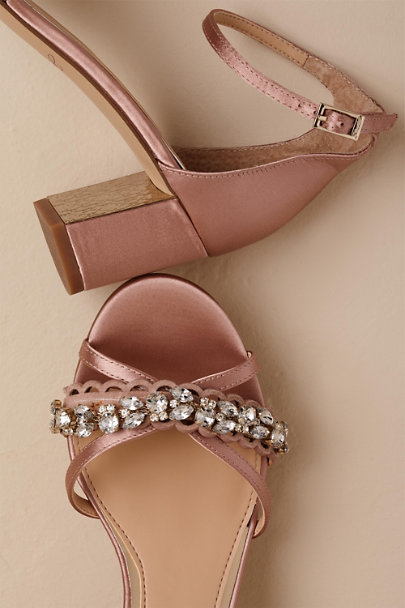 Badgley Mischka Pink Jewel by Badgley Mischka Giona Block Heels | BHLDN