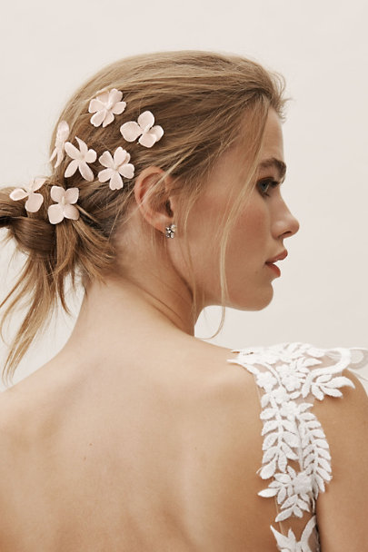 Luna Bea Pink Millais Hair Pins | BHLDN
