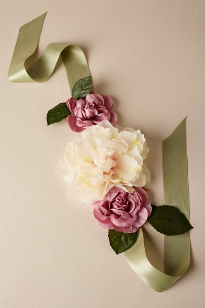 Madeleine Fig Mauve/Blush/Greenery Gracie Pet Collar | BHLDN