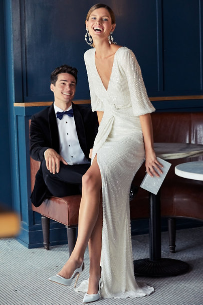 Rachel Gilbert Ivory Lovelle Gown | BHLDN