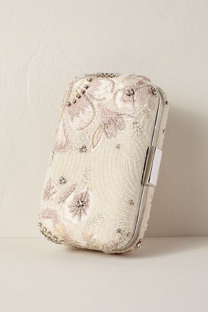 Mary Frances Ivory Destiny Beaded Clutch | BHLDN
