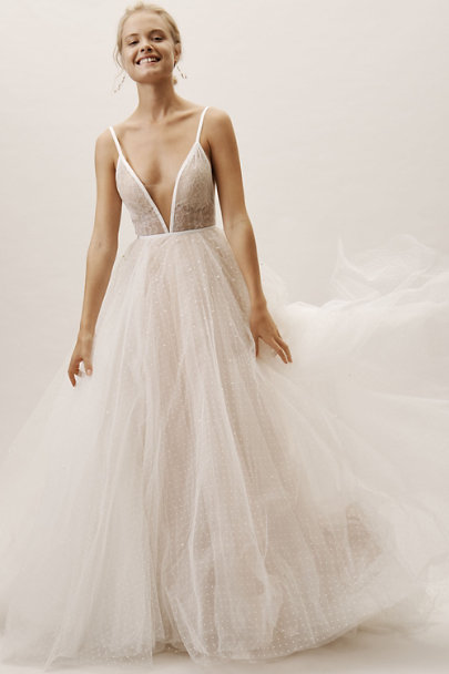 Willowby by Watters Ivory/Nude Arbor Gown | BHLDN