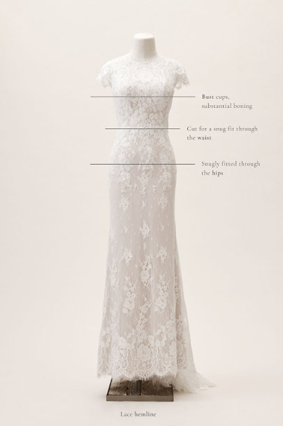 Wtoo by Watters Ivory/blush Sandrine Gown | BHLDN