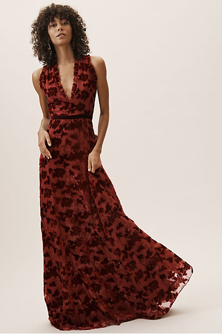 Yara Velvet Burnout Dress