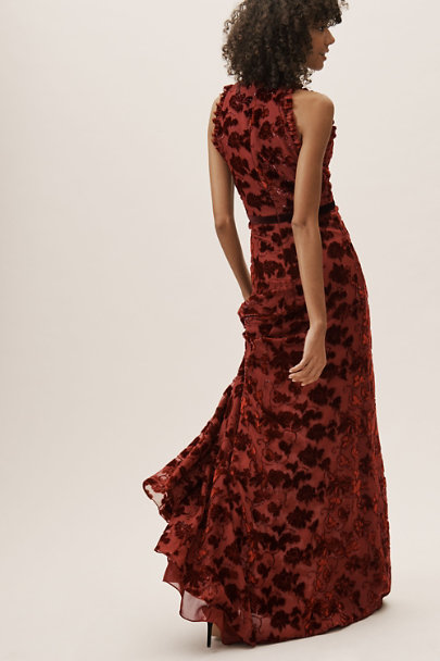 View larger image of Yara Velvet Burnout Dress