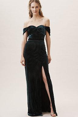Black Ivory Briana Velvet Dress