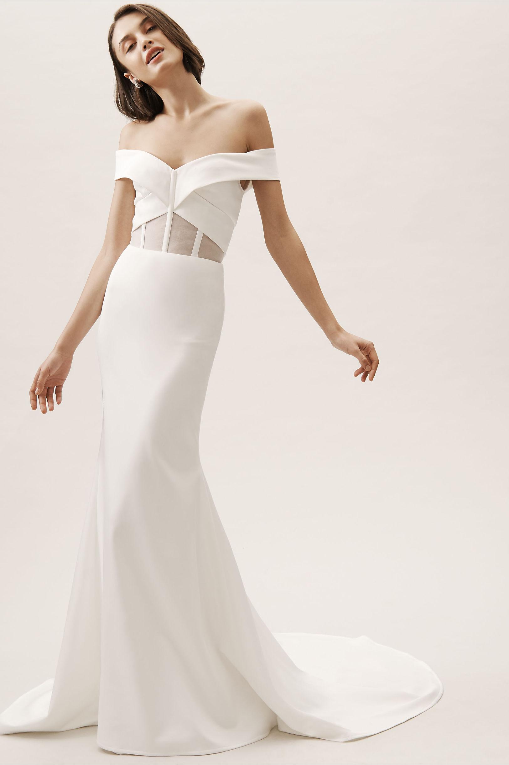 Hamilton Gown Ivory in Bride | BHLDN