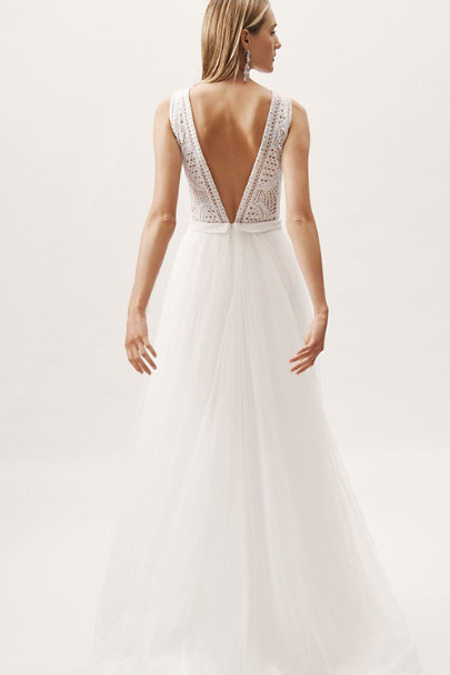 Chosen by One Day Ivory Sabrina Gown | BHLDN