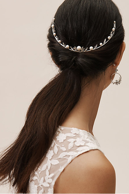 Heart Crystal Pearl Comb