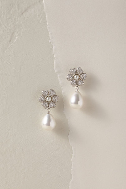 Nina Silver Inessa Drop Earrings | BHLDN