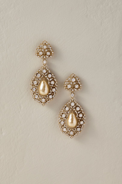 Nina Gold Regine Drop Earrings | BHLDN