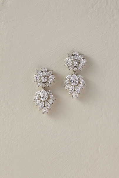 Nina Silver Haddon Earrings | BHLDN