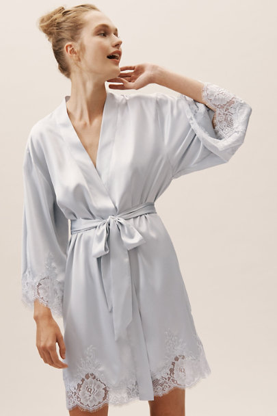 Homebodii Blue Olivia Robe | BHLDN