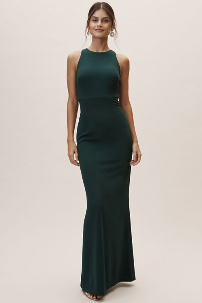 BHLDN Dark Emerald Nira Dress | BHLDN