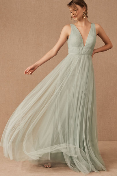 1940s Formal Dresses, Evening Gowns History Jenny Yoo Sarita Dress $280.00 AT vintagedancer.com