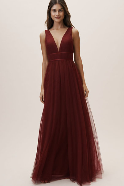 Jenny Yoo Cabernet Sarita Dress | BHLDN