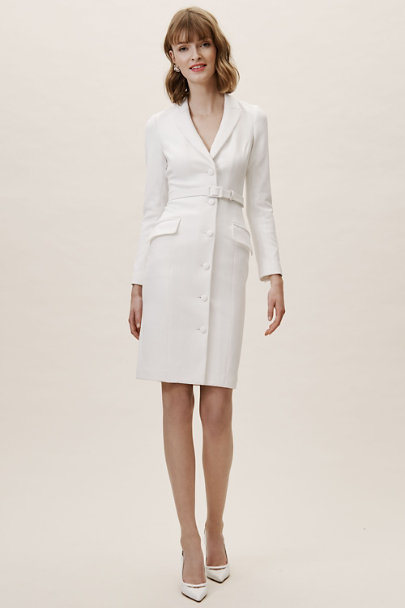 Badgley Mischka Ivory Beckham Suit Dress | BHLDN
