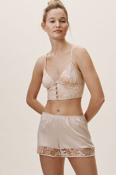 Rya Collection Pink From The Heart Bralette and Short Set | BHLDN