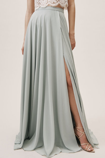 BHLDN Morning Mist Chateau Skirt | BHLDN