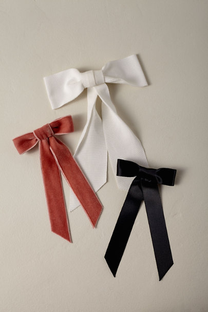 Jennifer Behr Black Bethanie Bow | BHLDN
