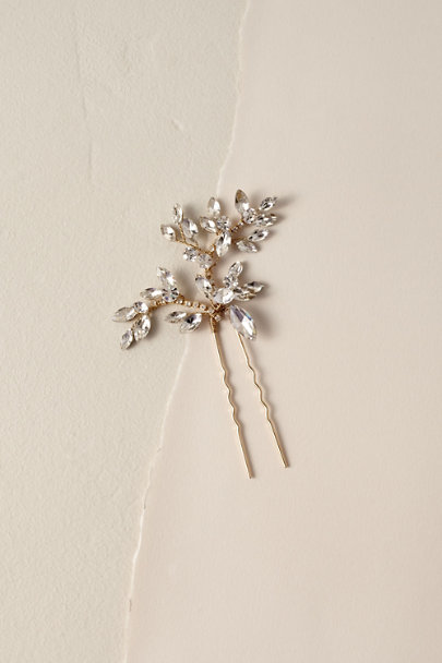 Untamed Petals Gold Vanya Hair Pin | BHLDN