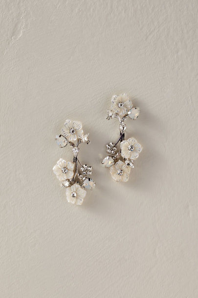 Elizabeth Bower Silver Hesper Earrings | BHLDN