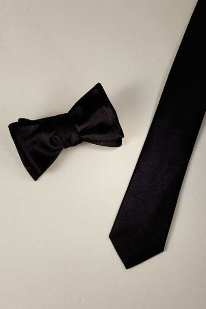 Tie Bar Black Tie Bar Black Satin Collection | BHLDN