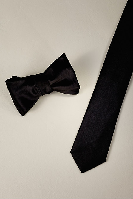 Tie Bar Black Satin Collection