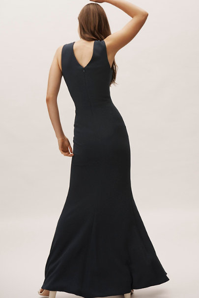 Dress the Population Midnight Blue Egan Dress | BHLDN