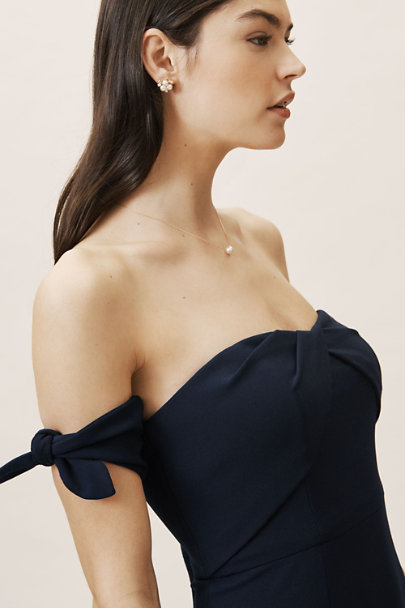 Watters Navy Delilah Dress | BHLDN