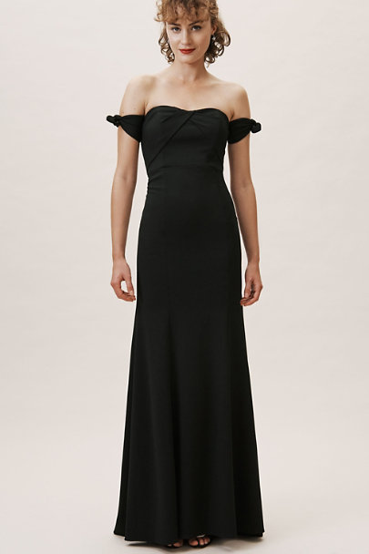 Watters Black Delilah Dress | BHLDN