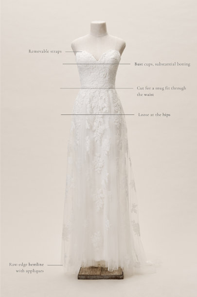 Whispers & Echoes Ivory Denver Gown | BHLDN