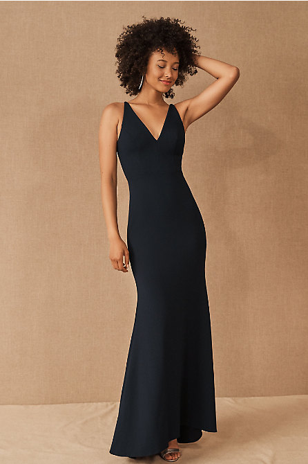 Jones V-Neck Crepe Dress