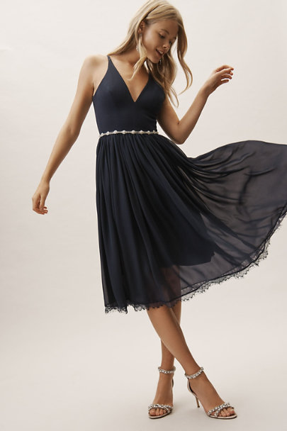 Dress the Population Midnight Blue Alicia Dress | BHLDN