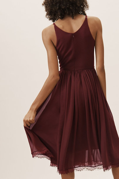 Dress the Population Burgundy Alicia Dress | BHLDN