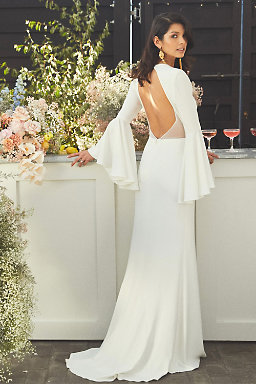 Long Sleeve Wedding Dresses Long Cap Sleeve Bhldn