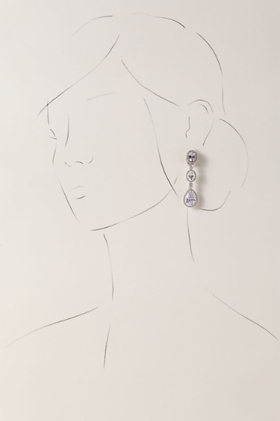 Nina Silver Syllis Clip-On Earrings | BHLDN