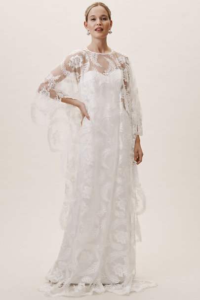 Whispers & Echoes Ivory Zazie Cape | BHLDN